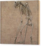 Patient Wood Print by James W Johnson