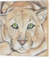 Patient Kitty Wood Print