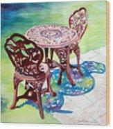 Patio Wood Print