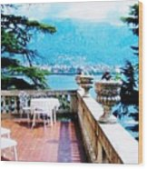 Patio In Italy Wood Print