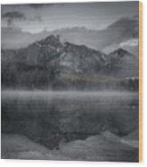 Patricia Lake Morning Wood Print