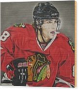 Patrick Kane Wood Print by Brian Schuster