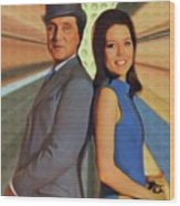 Patrick Macnee And Diana Rigg, The Avengers Wood Print
