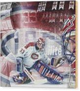 Patrick Roy Montreal Canadiens Wood Print