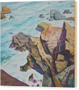 Patricks Point Wood Print