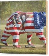 Patriot Bear Wood Print