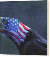 Patriot Eagle Wood Print
