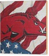 Patriot Hog Wood Print