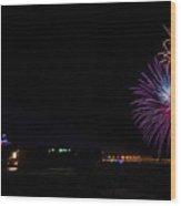 Patriot Point Firework Wood Print