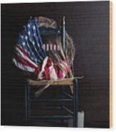Patriotic Decor Wood Print