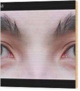 Patriotic Eyes - Poster Wood Print