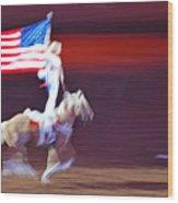 Patriotic Light Wood Print