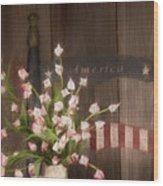 Patriotic Seating Wood Print
