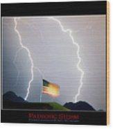 Patriotic Storm - Poster Print Wood Print