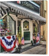 Patriotic Street Wood Print by Debbi Granruth