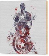 Patriotic Supersoldier Wood Print