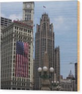 Patriotic View Wood Print