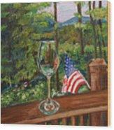 Star Spangled Wine - Fourth Of July - Blue Ridge Mountains Wood Print