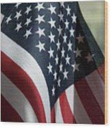 Patriotism Wood Print by Jerry McElroy