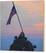 Patriotism Wood Print