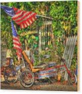 Patriots In The Keys Wood Print