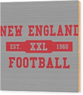 Patriots Retro Shirt Wood Print