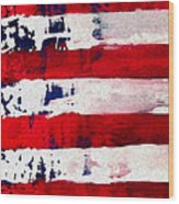 Patriot's Theme Wood Print