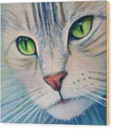 Pats Cat Wood Print