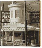 Pat's King Of Steaks - Philadelphia Wood Print