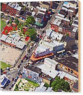 Pats King Of Steaks And Genos Steaks South Philadelphia 4542 Wood Print by Duncan Pearson