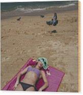 Pattaya Beach Wood Print