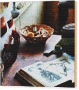 Pattern Book Wood Print by Susan Savad