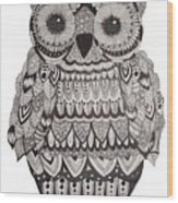 Patterned Owl Wood Print