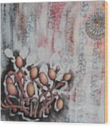 Patterned Parasites Wood Print