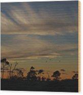 Patterned Skies Wood Print