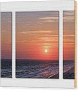 Patterns Of Sunset Wood Print