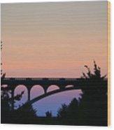 Patterson Bridge Sunrise Wood Print