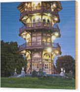 Patterson Park Pagoda. Baltimore Maryland  Wood Print