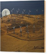 Patterson Pass Wind Farm Wood Print