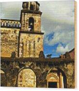Patzcuaro Bell Tower Wood Print