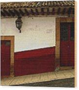 Patzcuaro Streetscape 3 Wood Print
