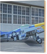 Paul 1 P-51d Mustang Wood Print