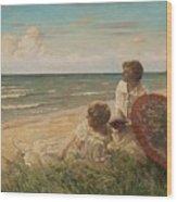 Paul Fischer, 1860-1934, Girls On The Beach Wood Print