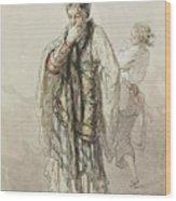 Paul Gavarni French, 1804-1866 Actors Wood Print
