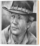 Paul Hogan Wood Print