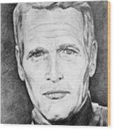 Paul Newman Wood Print