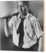 Paul Newman By John Springfield Wood Print