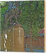 Paul Revere Rides In Boston-massachusetts  Wood Print