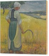 Paul Serusier 1864 - 1927 Breton Young To Sickle Wood Print