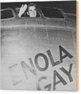 Paul Tibbets In The Enola Gay Wood Print